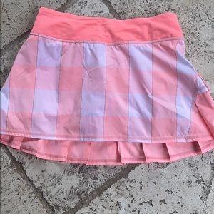 Lululemon Pink gingham tennis skirt.  Size 4 reg